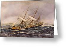 Sailing Ship - Saint Mary Greeting Card by Pg Reproductions