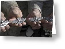 Sailors Display Their Fleet Marine Greeting Card by Stocktrek Images