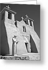 Saint Francisco De Asis Mission Greeting Card by Melany Sarafis