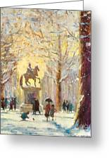 Saint James Square London...a Friendly Robin Greeting Card by Jeanette Leuers