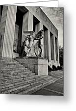 Saint Louis Soldiers Memorial Exterior Black And White Greeting Card by Joshua House