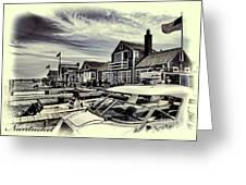 Salem Street - Nantucket Harbor Greeting Card by Jack Torcello