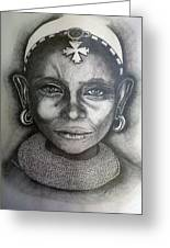 Samburu Tribe II. Greeting Card by Paula Steffensen