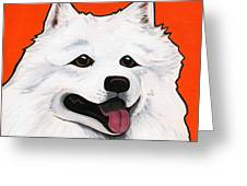 Samoyed Greeting Card by LEANNE WILKES
