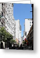 San Francisco - Maiden Lane - Outdoor Lunch At Mocca Cafe - 5d18011 Greeting Card by Wingsdomain Art and Photography