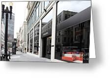San Francisco - Maiden Lane - Prada Italian Fashion Store - 5d17800 Greeting Card by Wingsdomain Art and Photography
