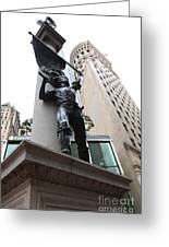 San Francisco - Monument On Market Street - 5d17845 Greeting Card by Wingsdomain Art and Photography