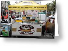 San Francisco - Stanley's Steamers Hot Dog Stand - 5d17929 Greeting Card by Wingsdomain Art and Photography