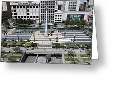 San Francisco - Union Square - 5d17942 Greeting Card by Wingsdomain Art and Photography