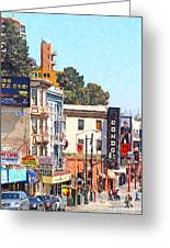 San Francisco Broadway Greeting Card by Wingsdomain Art and Photography