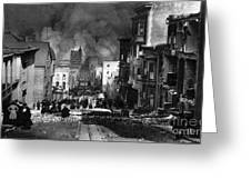 San Francisco Burning After 1906 Greeting Card by Science Source