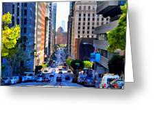 San Francisco California Street  . 7d7186 Greeting Card by Wingsdomain Art and Photography