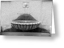 San Francisco Crocker Galleria Roof Garden Fountain - 5d17894 - Black And White Greeting Card by Wingsdomain Art and Photography