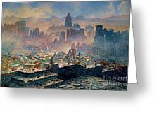 San Francisco Earthquake Greeting Card by Pg Reproductions