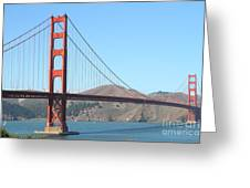 San Francisco Golden Gate Bridge . 7d7802 Greeting Card by Wingsdomain Art and Photography