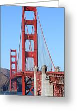 San Francisco Golden Gate Bridge . 7d8164 Greeting Card by Wingsdomain Art and Photography