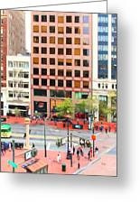 San Francisco Market Street - 5d17877 - Square - Painterly Greeting Card by Wingsdomain Art and Photography