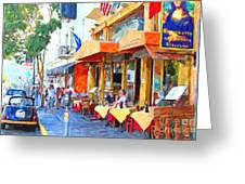 San Francisco North Beach Outdoor Dining Greeting Card by Wingsdomain Art and Photography