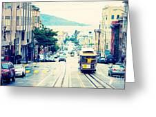 San Francisco Powell Street Cable Car Greeting Card by Kim Fearheiley