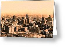 San Francisco Skyline 1909 Showing South Of Market Street Greeting Card by Wingsdomain Art and Photography