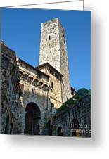 San Gimignano Italy Greeting Card by Gregory Dyer