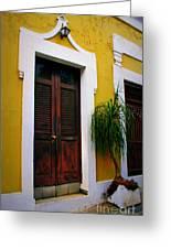 San Juan Doors Greeting Card by Perry Webster