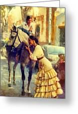 San Miguel Fair In Torremolinos Greeting Card by Jenny Rainbow