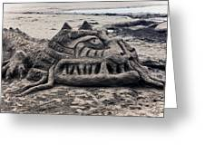 Sand Dragon Sculputure Greeting Card by Garry Gay