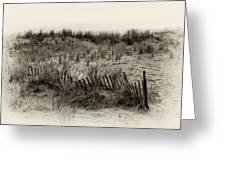 Sand Dune In Sepia Greeting Card by Bill Cannon