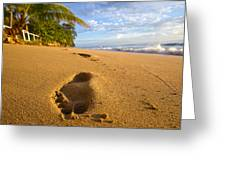 Sand Prints Greeting Card by Tim  Fitzwater