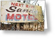 Sands Motel Greeting Card by Todd Sherlock