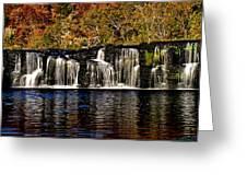 Sandstone Falls In Autumn Greeting Card by Matthew Winn