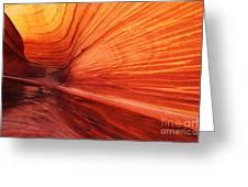 Sandstone Wave Greeting Card by Dennis Hedberg