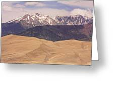 Sangre De Cristo Mountains And The Great Sand Dunes Greeting Card by James BO  Insogna