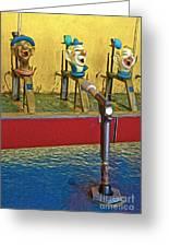 Santa Cruz Boardwalk - Clown Game - 02 Greeting Card by Gregory Dyer