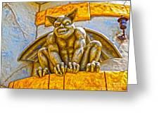 Santa Cruz Boardwalk - Demon - 01 Greeting Card by Gregory Dyer