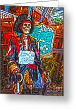 Santa Cruz Boardwalk - Pirate Of The Arcade Greeting Card by Gregory Dyer