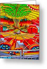 Santa Cruz Boardwalk - That Ride That Makes You Sick Greeting Card by Gregory Dyer