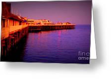 Santa Cruz Wharf Greeting Card by Garnett  Jaeger
