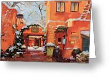 Santa Fe Cafe Greeting Card by Gary Kim