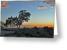 Santa Fe Sunset Greeting Card by Cheri Randolph