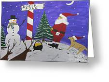 Santa Finds Pot Of Gold Greeting Card by Jeffrey Koss