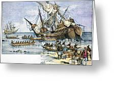 Santa Maria: Wreck, 1492 Greeting Card by Granger