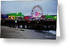 Santa Monica Pier May 12 2012 Greeting Card by Clayton Bruster