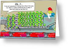 Santa Workers Greeting Card by Jack Norton