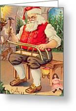 Santa's Workshop Greeting Card by English School