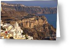 Santorini Greeting Card by Brian Jannsen