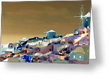 Santorini Greeting Card by Ilias Athanasopoulos