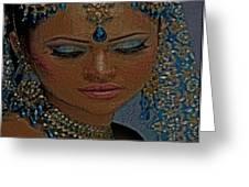 Saphire Goddess Greeting Card by Liz Loz