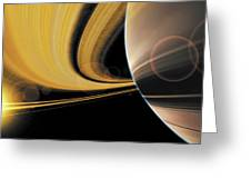Saturn Glory Greeting Card by Don Dixon